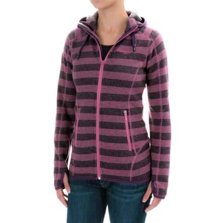 Bergans of Norway Humle Jacket (For Women) in Plum/Hot Pink Stripe/Cerise - Closeouts