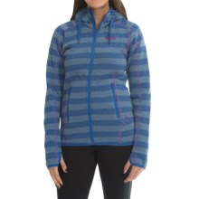 Bergans of Norway Humle Lady Jacket (For Women) in Cobalt Striped/Tulippink - Closeouts