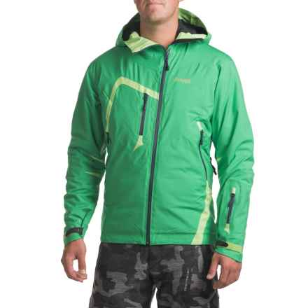 Bergans of Norway Isogaisa Jacket - Waterproof, Insulated (For Men) in Amazon Green/Lime Zest/Navy - Closeouts