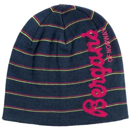 Bergans of Norway Kuling Beanie (For Men and Women) in Navy/Hot Pink - Closeouts