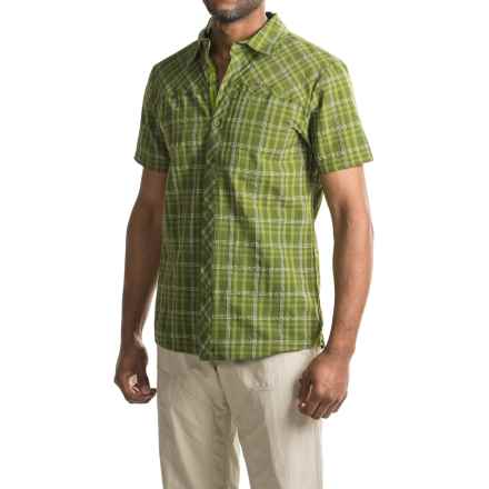 Bergans of Norway Langli Shirt - Short Sleeve (For Men) in Green Tea Check - Closeouts