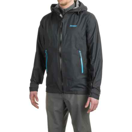 Bergans of Norway Letto Jacket - Waterproof (For Men) in Black/Bright Sea Blue/Solid Dark Grey - Closeouts