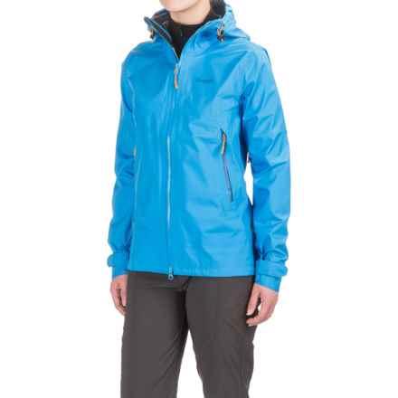 Bergans of Norway Letto Jacket - Waterproof (For Women) in Light Winter Sky/Ocean/Pumpkin - Closeouts