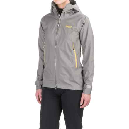 Bergans of Norway Letto Jacket - Waterproof (For Women) in Solid Grey/Dandelion/Aluminum - Closeouts