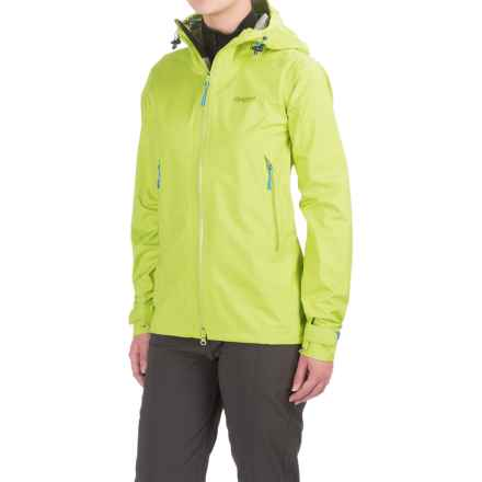 Bergans of Norway Letto Jacket - Waterproof (For Women) in Spring Leaves/Light Winter Sky - Closeouts