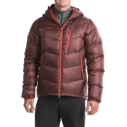 Bergans of Norway Memurutind Down Jacket - 700 Fill Power (For Men) in Dark Maroon/Bright Red - Closeouts