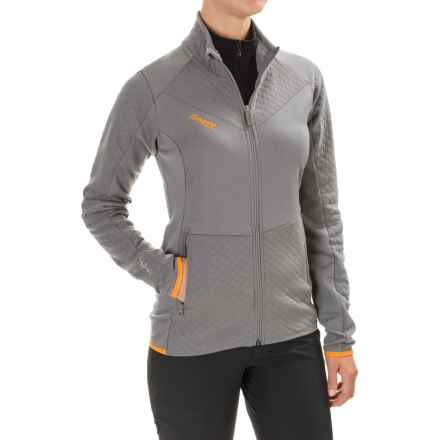 Bergans of Norway Middagstind Jacket (For Women) in Solid Grey/Pumpkin - Closeouts
