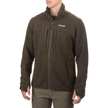Bergans of Norway Myrull Outdoor Jacket - Wool (For Men) in Dark Olive - Closeouts