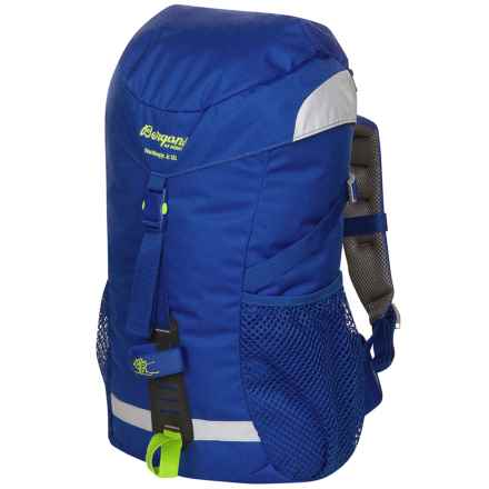 Bergans of Norway Nordkapp Jr. Backpack - 18L (For Big Kids) in Cobalt Blue/Neon Green - Closeouts