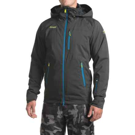 Bergans of Norway Norefjell PrimaLoft® Jacket - Waterproof, Insulated (For Men) in Solid Charcoal/Ocean/Spring Leaves - Closeouts