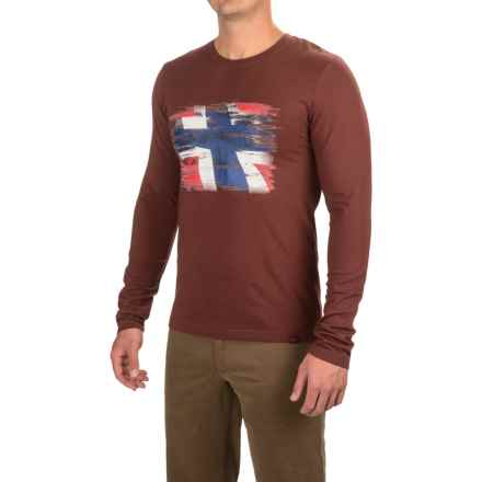 Bergans of Norway Norway Shirt - Long Sleeve (For Men) in Dark Maroon - Closeouts