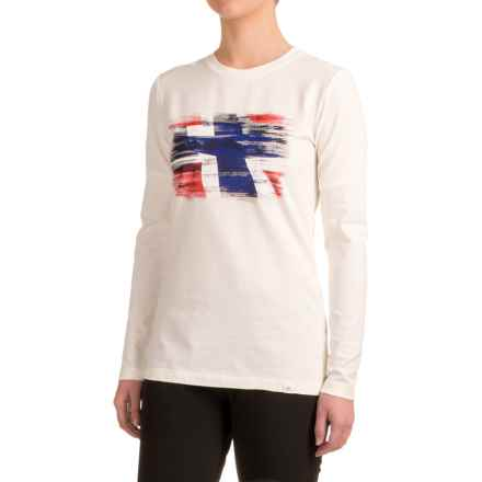 Bergans of Norway Norway Shirt - Organic Cotton, Long Sleeve (For Women) in White - Closeouts