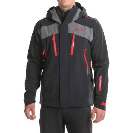 Bergans of Norway Oppdal Ski Jacket - Waterproof (For Men) in Black/Solid Dark Grey/Red - Closeouts