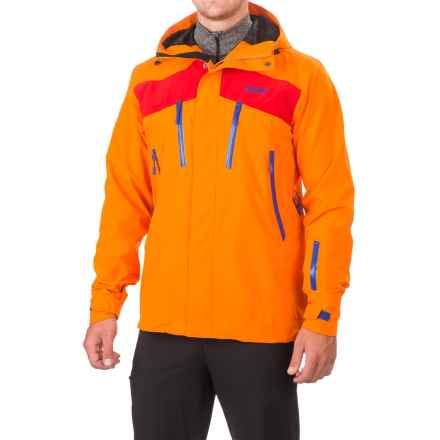 Bergans of Norway Oppdal Ski Jacket - Waterproof (For Men) in Sunset/Red/Cobalt Blue - Closeouts