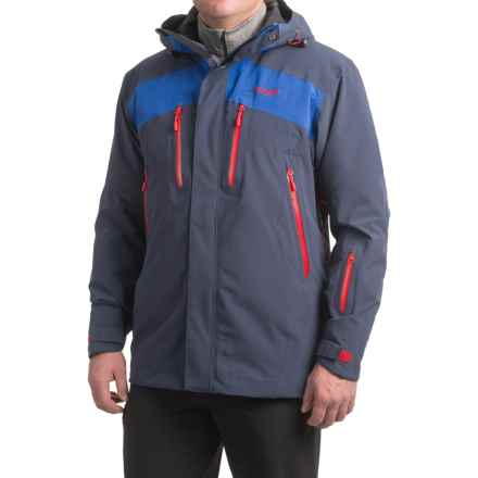Bergans of Norway Oppdal Ski Jacket - Waterproof, Insulated (For Men) in Navy/Cobalt Blue/Red - Closeouts