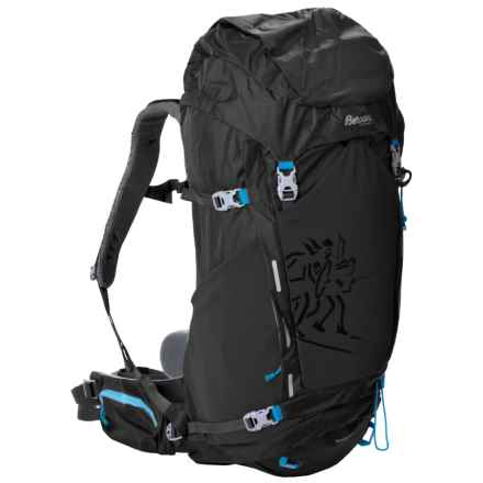 Bergans of Norway Rondane 46L Backpack - Internal Frame in Black/Bright Sea Blue - Closeouts