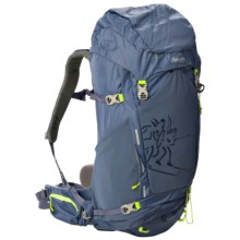 Bergans of Norway Rondane 46L Backpack - Internal Frame in Dusty Blue/Neon Green - Closeouts