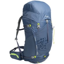 Bergans of Norway Rondane 65L Backpack - Internal Frame in Dusty Blue/Neon Green - Closeouts