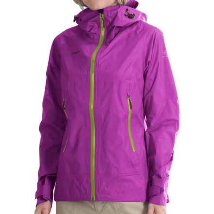 Bergans of Norway Sky Jacket - Waterproof (For Women) in Pink Rose/Spring Leaves/Plum - Closeouts