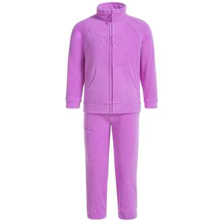 Bergans of Norway Smadol Fleece Jacket and Pants Set (For Toddlers) in Light Heather/Heather - Closeouts