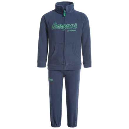 Bergans of Norway Smadol Fleece Jacket and Pants Set (For Toddlers) in Navy Frog - Closeouts