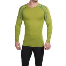 Bergans of Norway Soleie Base Layer Top - Merino Wool, Long Sleeve (For Men) in Lime/Light Sea Blue - Closeouts