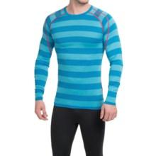 Bergans of Norway Soleie Base Layer Top - Merino Wool, Long Sleeve (For Men) in Sea Blue Striped - Closeouts