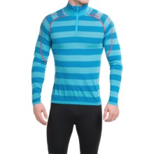 Bergans of Norway Soleie Base Layer Top - Merino Wool, Zip Neck, Long Sleeve (For Men) in Sea Blue Striped - Closeouts