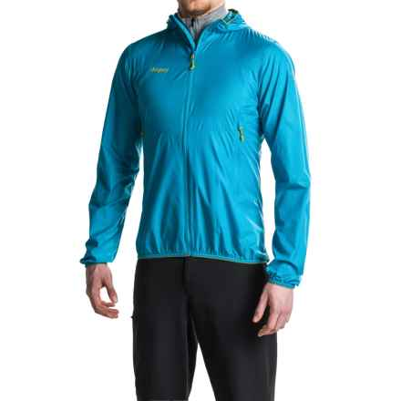 Bergans of Norway Solund Jacket - UPF 40+ (For Men) in Sea Blue/Lime - Closeouts