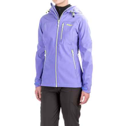 Bergans of Norway Stegaros Jacket (For Women) in Light Primula Purple/Neon Green/White - Closeouts