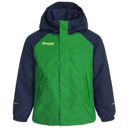Bergans of Norway Storm Jacket - Waterproof, Insulated (For Toddlers) in Frog/Navy - Closeouts