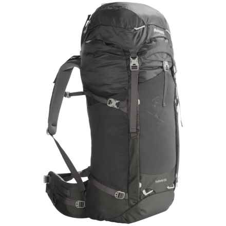 Bergans of Norway Trollhetta 55L Backpack (For Men and Women) in Solid Charcoal/Alu - Closeouts