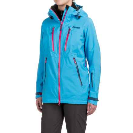 Bergans of Norway Trolltind Jacket - Waterproof (For Women) in Bright Sea Blue/Hot Pink - Closeouts