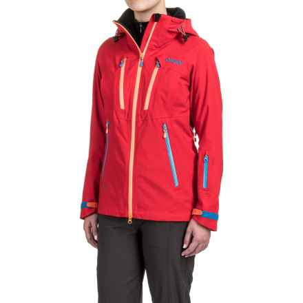 Bergans of Norway Trolltind Jacket - Waterproof (For Women) in Red/Neon Ornage/Light Sea - Closeouts