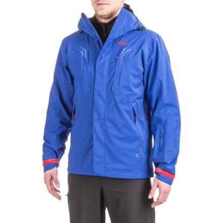 Bergans of Norway Trysil Ski Jacket - Waterproof (For Men) in Cobalt Blue/Warm Cobalt/Red - Closeouts