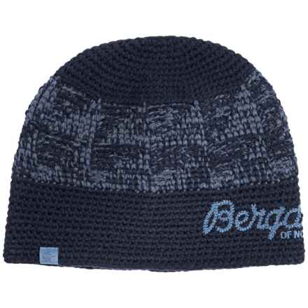 Bergans of Norway Tryvann Beanie (For Men and Women) in Navy/Dusty Light Blue - Closeouts