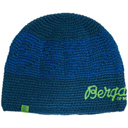 Bergans of Norway Tryvann Beanie (For Men and Women) in Ocean - Closeouts