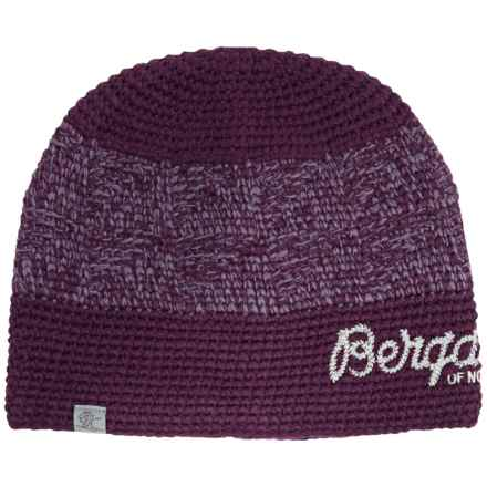 Bergans of Norway Tryvann Beanie (For Men and Women) in Plum/Aluminum - Closeouts