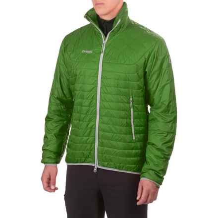 Bergans of Norway Uranostind Jacket - Insulated (For Men) in Lawn Green/Solid Light Grey - Closeouts