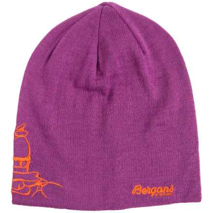 Bergans of Norway Varde Beanie (For Men and Women) in Pink Rose/Koi Orange - Closeouts