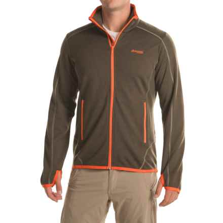 Bergans of Norway Vikke Jacket - Merino Wool (For Men) in Army Green/Koi Ornage - Closeouts
