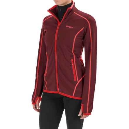 Bergans of Norway Vikke Jacket - Merino Wool (For Women) in Dark Maroon/Bright Red - Closeouts