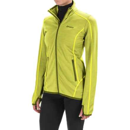 Bergans of Norway Vikke Jacket - Merino Wool (For Women) in Lime/Green Tea - Closeouts
