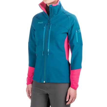 Bergans of Norway Visbretind Jacket - UPF 50+ (For Women) in Deep Sea/Hot Pink/Blue - Closeouts