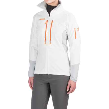 Bergans of Norway Visbretind Jacket - UPF 50+ (For Women) in White/Aluminum/Pumpkin - Closeouts