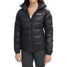 Berghaus Popena Hooded HydroDown Jacket - 600 Fill Power (For Women) in Black/Black - Closeouts