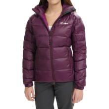 Berghaus Popena Hooded HydroDown Jacket - 600 Fill Power (For Women) in Dark Purple/Dark Purple - Closeouts