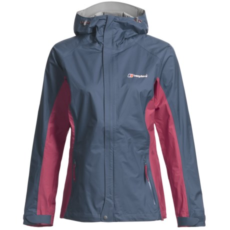 Berghaus Ridgeway Jacket - Waterproof (For Women) in Dark Blue/Pink