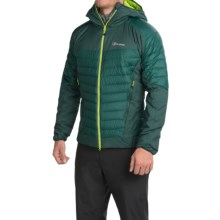 Berghaus Ulvetanna Hybrid Jacket - Hydrodown, Hydroloft® (For Men) in Greenbeetle/Pinegrove - Closeouts