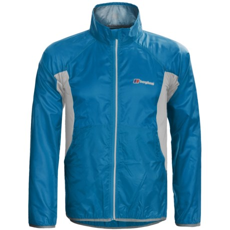 Berghaus Viso Wind Jacket (For Men) in Blue/Silver